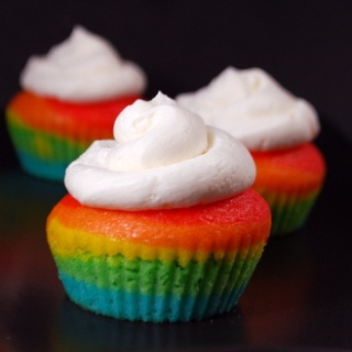Taste a rainbow Rainbow cupcake recipe